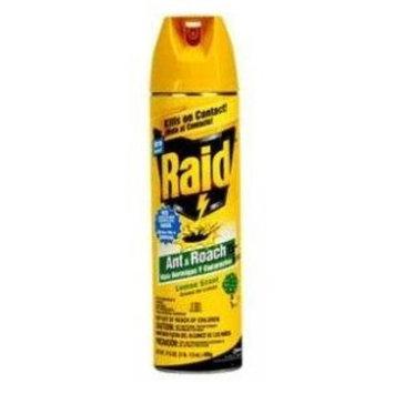 Raid Ant &Roach Killer, Lemon Scent 17.5 oz. (Pack of 12)