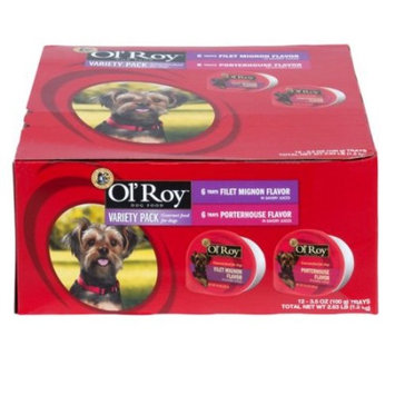 Ol' Roy Variety Pack Filet Mignon & Porterhouse Wet Dog Food, 3.5 Oz, 12 Ct