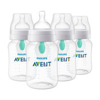 Philips Avent Anti-colic Baby Bottle with AirFree vent 9oz, 4pk, SCF403/44 [4 Pack]