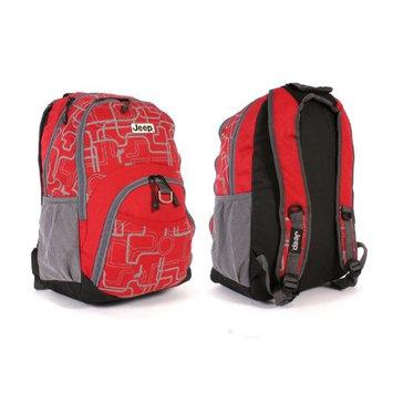 Red Jeep backpack shoulder school bag