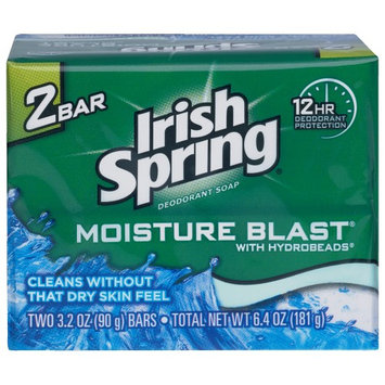 Irish Spring Moisture Blast (2) Bars 3.2 Oz
