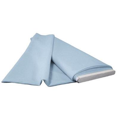 LA Linen PopBolt-10Yrd-BlueLgtP18 10 Yards Polyester Poplin Flat Fold Light Blue