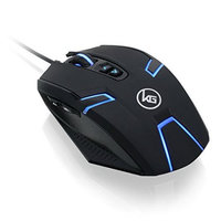 Iogear, Inc. IOGEAR Kaliber Gaming SYMMETRE Ambidextrous Gaming Mouse - Avago 3050 - Cable - USB 2.0 - 4000 dpi - Scroll Wheel - 9 Button(s) - Symmetrical
