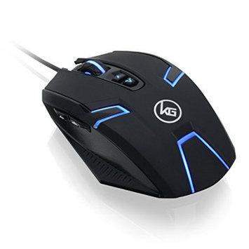 Iogear, Inc. IOGEAR Kaliber Gaming SYMMETRE Ambidextrous Gaming Mouse - Avago 3050 - Cable - USB 2.0 - 4000 dpi - Scroll Wheel - 9 Button(s) - Symmetrical