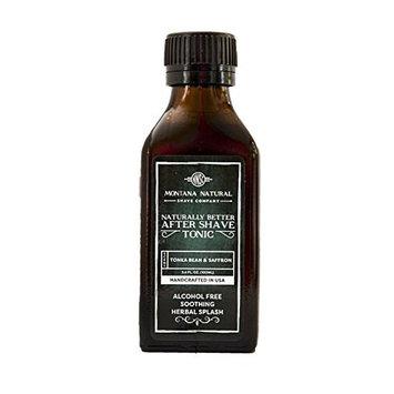 Tonka Bean & Saffron Classic Old School Aftershave Tonic. Naturally Better Alcohol Free Botanical Splash.
