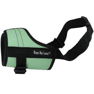 Adjustable Dog Muzzle 6 Sizes Green (XL: 12