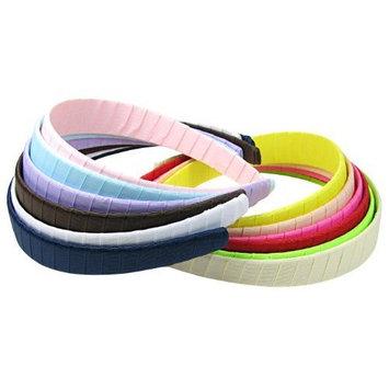 HipGirl Grosgrain Ribbon Wrapped Headbands, Multi Color, 1 Inch, 9 Count