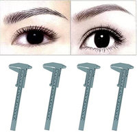 Hot Sale! AMA(TM) 4PCS Microblading Reusable Makeup Brow Measure Eyebrow Grooming Stencil Shaper Guide Ruler Permanent Tools