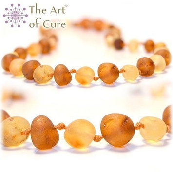 The Art of Cure Original Premium Baltic Amber Teething Necklace 12.5 inches (RAW 1X1)