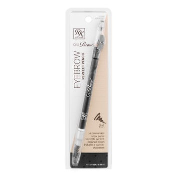 Kiss Products Inc Kiss Ruby Kisses Go Brow Black Brown Eyebrow Perfect Pencil, 0.04 oz