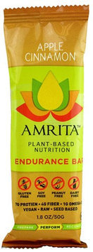 Amrita Health Foods Endurance Bar Apple Cinnamon 1.8 oz - Vegan
