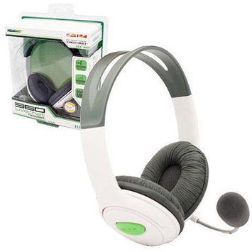 KMD (KOMODO) Live Chat Headset with Mic White (Large) for XBOX 360