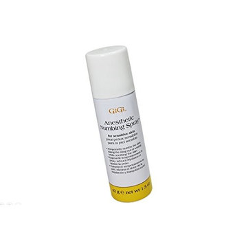Gigi Anesthetic Numbing Spray for Sensitive Skin Is a Topical Analgesic Spray That Gently Desensitizes the Skin Prior to Waxing with 4% Lidocaine -Size 1.5 Oz