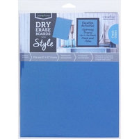 Crescent Cardboard Co Color Notes Dry Erase Board, 8' x 10', Blue