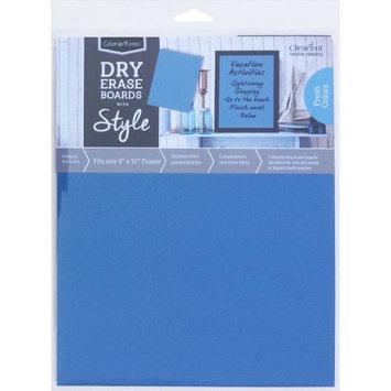 Crescent Cardboard Co Color Notes Dry Erase Board, 8' x 10', Blue