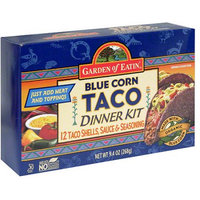 Garden of Eatin' Blue Corn Taco Dinner Kit, 9.4 oz, (Pack of 12)