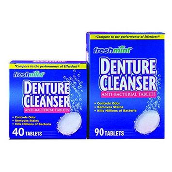 DENT90BX - Freshmint Denture Cleanser Tablets, 90 Count, Mint
