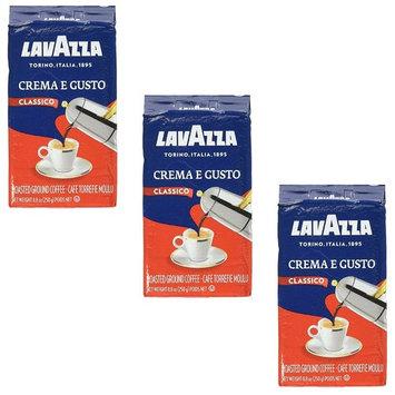 Lavazza, Crema e Gusto Ground Coffee, 8.8 Oz - Pack of 3