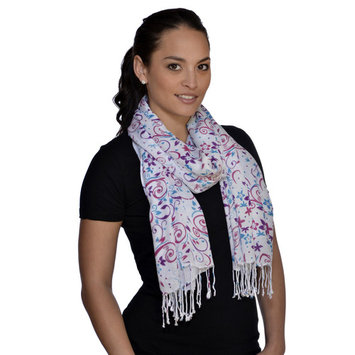 Amtal Fashion Floral Abstract Design Lightweight Spring Summer Scarfs for Women