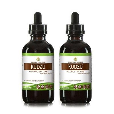 Secrets Of The Tribe Kudzu Tincture Alcohol Extract, Organic Kudzu (Pueraria Lobata) Dried Berry 2x4 oz