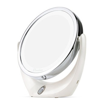 Makeup Mirror, Broadcare Double Sided Lighted Vanity Mirror, 1x/5x Magnifying Mirror with Lights Travel