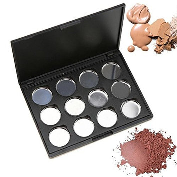 12 Grids Magnetic Makeup Cosmetic Empty Palette Organizer Case Pigment Pans Bronzer Pans For Eyeshadow Eye Shadow Blush