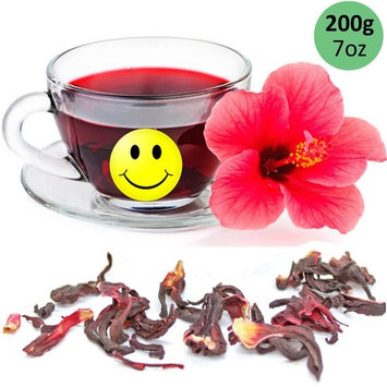 Tealyra - Pure Hibiscus Herbal Tea - Loose Leaf Tea - Organically Grown - Lower Blood Pressure & Help Weight Loss - Vitamins Rich Tea - Healthy Tea - Caffeine Free (7oz/200g)