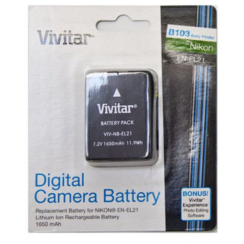 Vivitar NB-EL21 Digital Camera Battery - 1650 mAh - Lithium Ion (Li-Ion) - 7.2 V DC