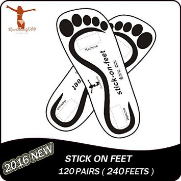 Reneetan Economy120 Pairs(240feets Total) Tanning Feet Disposable on Sunless Tan