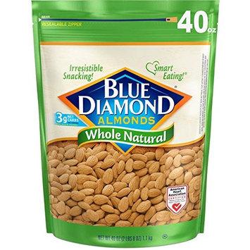 Blue Diamond Almonds, Whole Natural, 40 Ounce