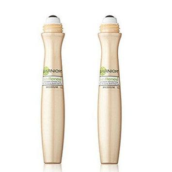 Garnier SkinActive Clearly Brighter Sheer Tinted Eye Roller, Light/Medium, (Pack of 2)