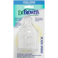 Dr. Brown's Natural Flow Level 4 Wide Neck Nipple, 3 Pack (Discontinued by Manufacturer)