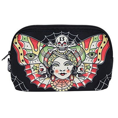 Liquorbrand Traditional Butterfly women Tattoo Flash Tattoo Art Cosmetic Bag Pouch