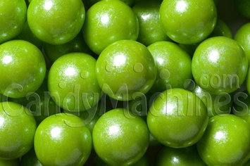 Candymachines Gumballs By The Pound - 2 Pound Bag of Shimmer Pearl Lime Green