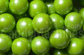 Candymachines Gumballs By The Pound - 1 Pound Bag of Shimmer Pearl Lime Green