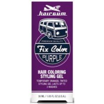 Hairgum Fix Color Temporary Hair Coloring Styling Gel - Purple 1 oz. (Pack of 2)