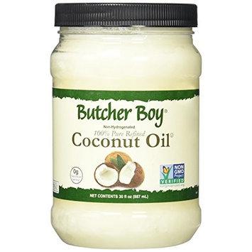 Butcher Boy Coconut Oil - 30 Ounce - 100% Pure Refined - 76 Degree