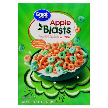 Wal-mart Store, Inc. Great Value Apple Blasts Cereal, 21.7 oz