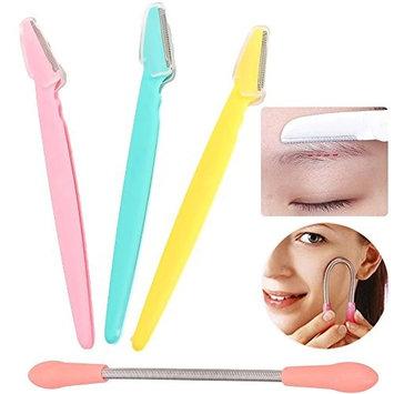 Facial Razors for Women, 3 Pcs Eyebrow Razor Face Hair Shaver Eyebrow Trimmer, Micro Touch Blades Eyebrow Shaper Face Hair Remover Beauty Tool for Shaving