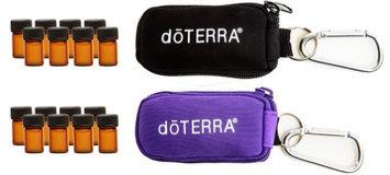 Aroma Designs Keychain With Vials 2 Pack (Doterra Logo) (Purple & Black)