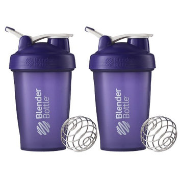 Blender Bottle 2-Pack Classic 20 oz. Shaker w/ Loop Top - Purple & Purple