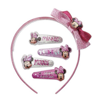 Disney Minnie Mouse Girl's 5-Piece Hair Accessory Set & Case