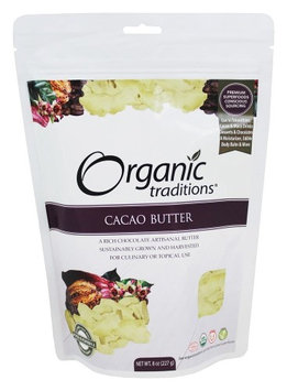 Organic Traditions - Cacao Butter - 8 oz(pack of 4)