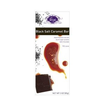 Vosges Haut Caramel Exotic Chocolate Bar, Black Salt, 3 Ounce [Black Salt Caramel]