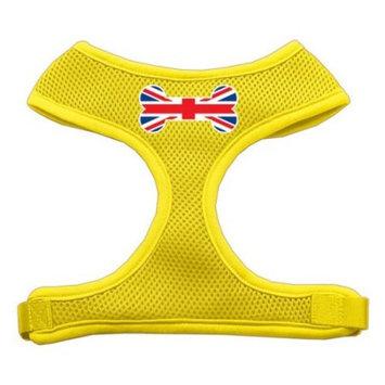 Bone Flag UK Screen Print Soft Mesh Harness Yellow Extra Large