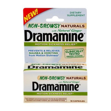Dramamine Motion Sickness Relief Ginger Capsules - 18ct