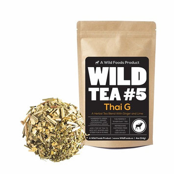 Green Rooibos Tea with Ginger, Lemongrass and Lime, All-Natural Organically Grown Ingredients - Wild Tea #5 Loose Leaf Rooibos Tea