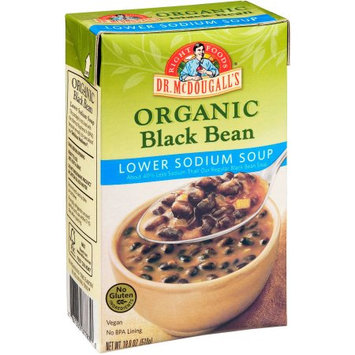 Dr. McDougall's Right Foods Organic Black Bean Lower Sodium Soup, 18 oz, (Pack of 6)