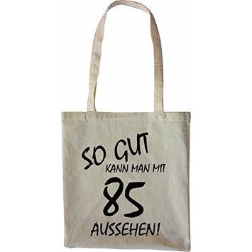 Mister Merchandise Tote Bag So gut kann man mit 85 aussehen! Jahren Jahre Shopper Shopping, Color Natur [Nature]