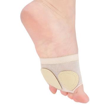 2 Pairs Women's Ballet Belly Dance Half Sole Paws Pad Foot Thongs Toe Undies(Skin Color/M)